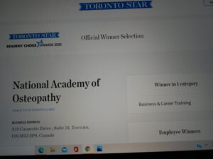 National Academy of Osteopathy chosen as the best career training school
